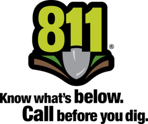 Digger's hotline #811 graphic Know what's below.  Call before you dig.