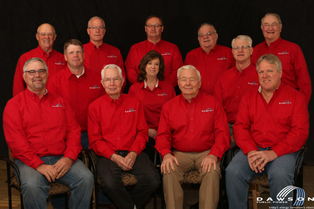 Dawson PPD board of directors photo with General Manager Gwen Kautz