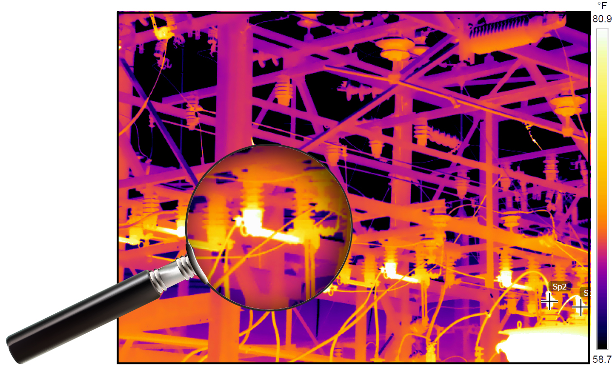 Thermal imaging cameras pick up on what's invisible to the naked eye - excessive heat given off of a failing piece of electrical equipment.