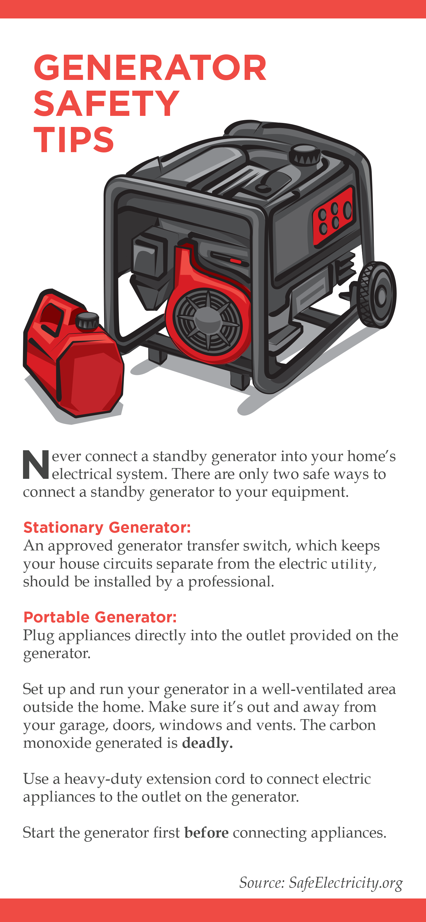 Dawson Public Power District Generator safety tips