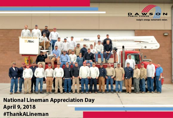 April 9, 2018, is National Lineman Appreciation Day. #ThankALineman