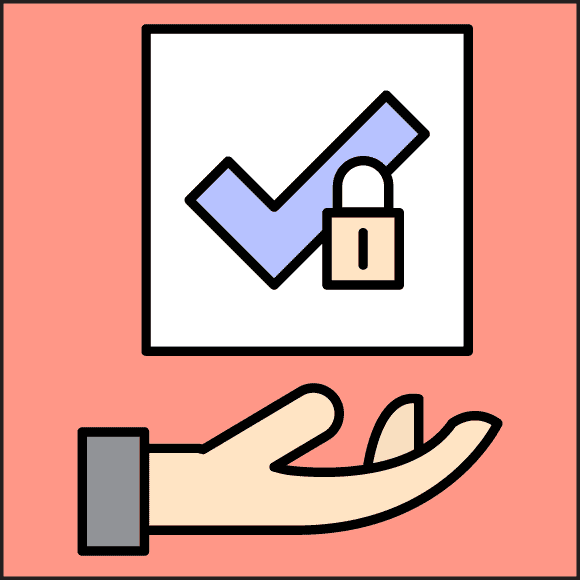 safe check with data in hands