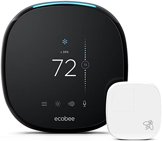 Smart thermostats, like the Ecobee model shown here, are Wi-Fi connected and can be controlled through your smartphone, tablet or voice. Photo Credit: Ecobee