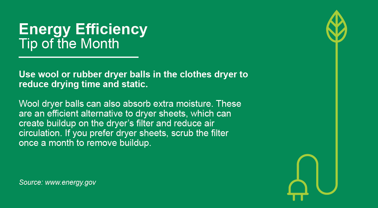 Energy Efficiency Tip of the Month January 2021