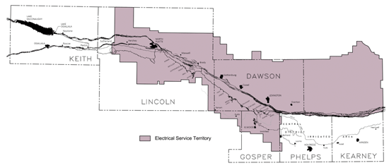 This map shows the territory boundaries of both Dawson PPD and The Central NPPID.