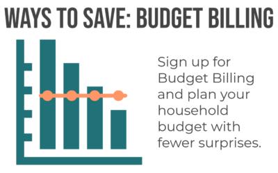 Ways to save: Budget billing