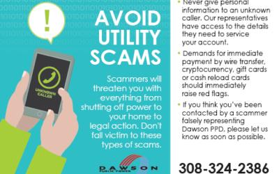 Avoid utility scams