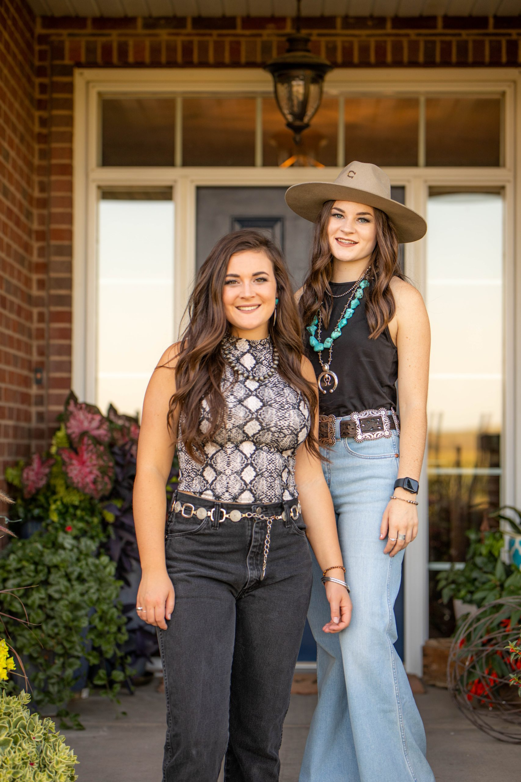 Sisters Mekenzie (left) and Mattison Beattie of Sumner are the founders of Sassy Sisters Swine, a direct-to-consumer pork product business.